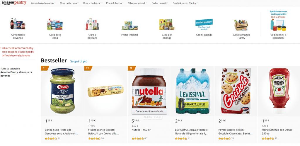Amazon pantry consegna prodotti gluten free